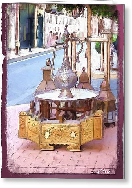 Greeting Card featuring the photograph Do-00456 Artisanat Collection by Digital Oil