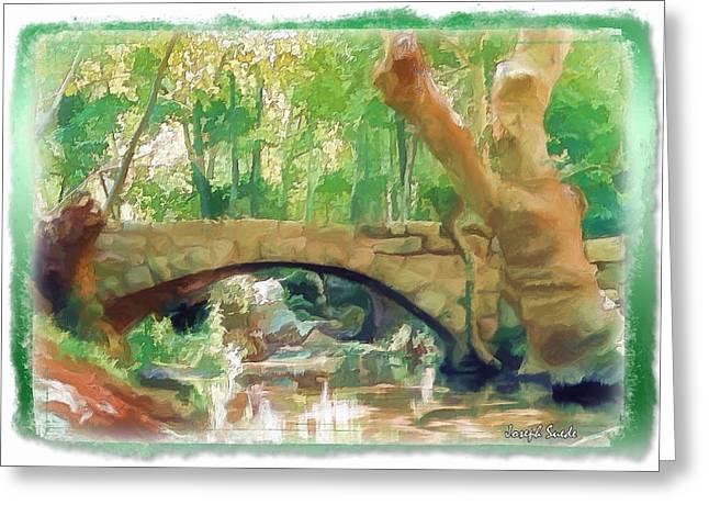 Do-00457 Janneh Bridge Greeting Card by Digital Oil