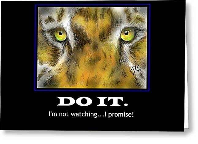 Greeting Card featuring the digital art Do It Motivational by Darren Cannell