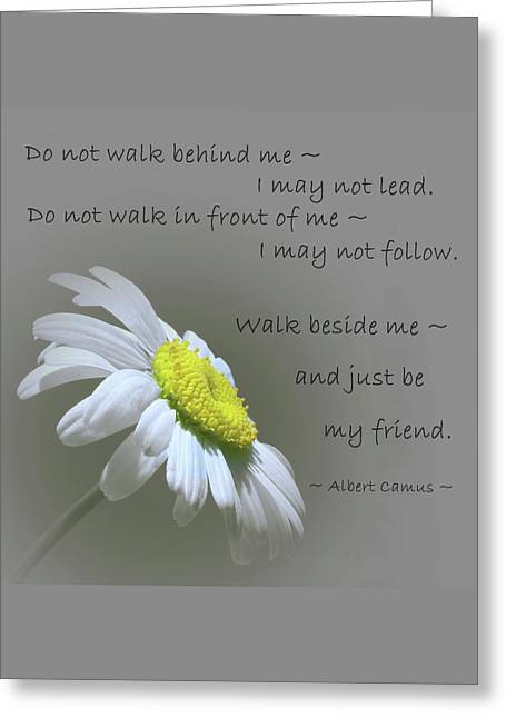 Greeting Card featuring the mixed media Walk Beside Me by Movie Poster Prints