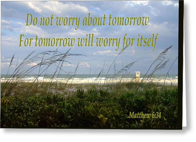Do Not Worry Greeting Card