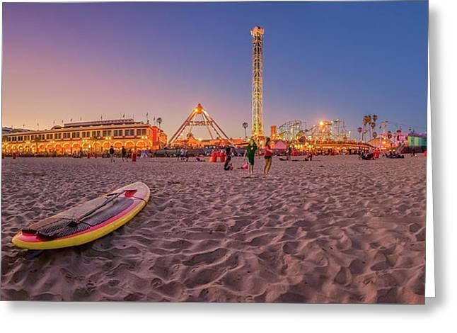 Do We Have To Go Home - Santa Cruz Beach Greeting Card by Scott Campbell