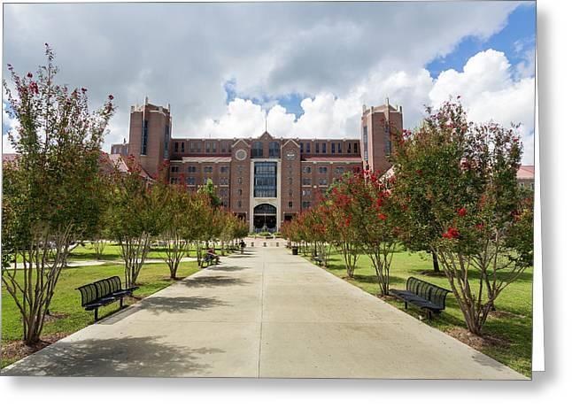 Doak S. Campbell Stadium At Florida State University Greeting Card by Bryan Pollard