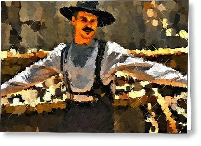 Doc Holiday Tombstone Greeting Card by Kreyton