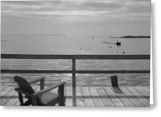 Dock And Chair Greeting Card