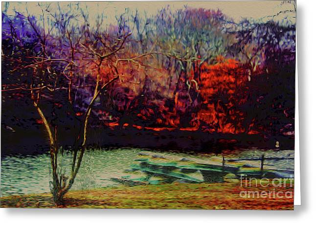 Greeting Card featuring the photograph Dock At Central Park by Sandy Moulder