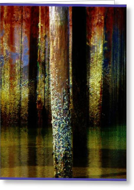 Dock At Low Tide Greeting Card
