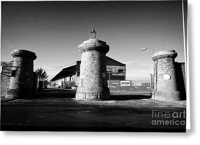 Dock Gates To Bramley-moore Dock Liverpool Docks Dockland Uk Greeting Card