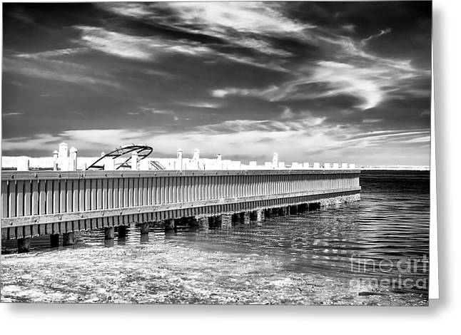 Dock Lines Greeting Card by John Rizzuto