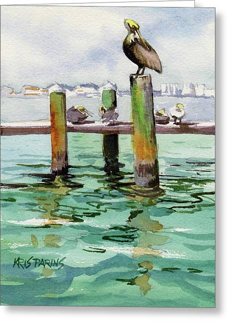 Dock O' The Bay Greeting Card by Kris Parins