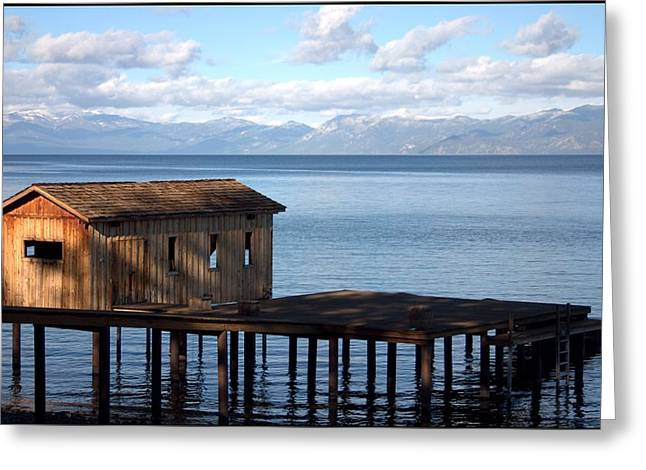Dock Of Dreams South Lake Tahoe Ca Greeting Card by Brad Scott
