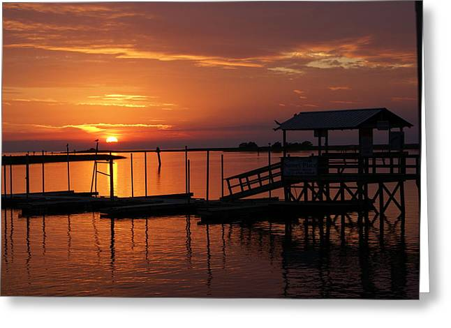 Dock Of The Bay Greeting Card by Debbie May