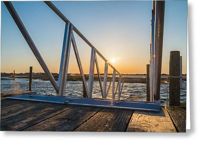 Dock On The Bay Greeting Card by Kristopher Schoenleber