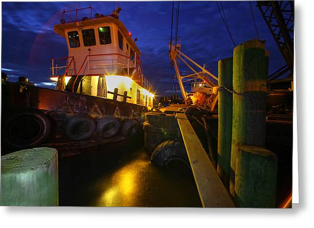 Dock Side Greeting Card