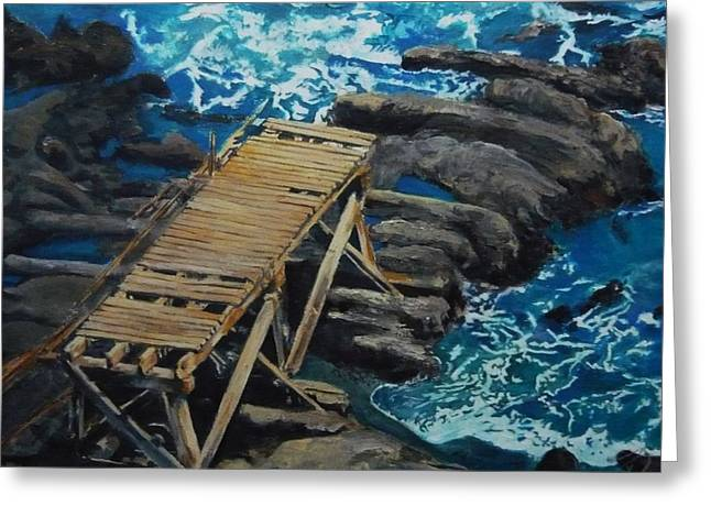 Dock Greeting Card by Travis Day