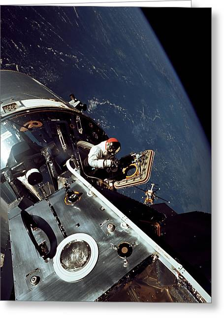Docked Apollo 9 Command And Service Greeting Card by Stocktrek Images