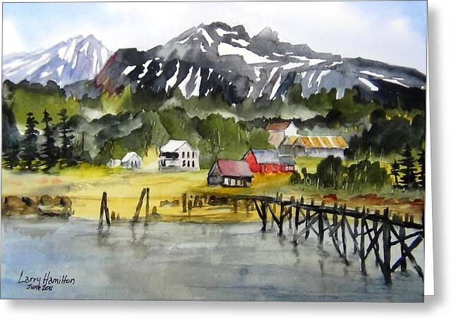 Docked At Haines Alaska Greeting Card