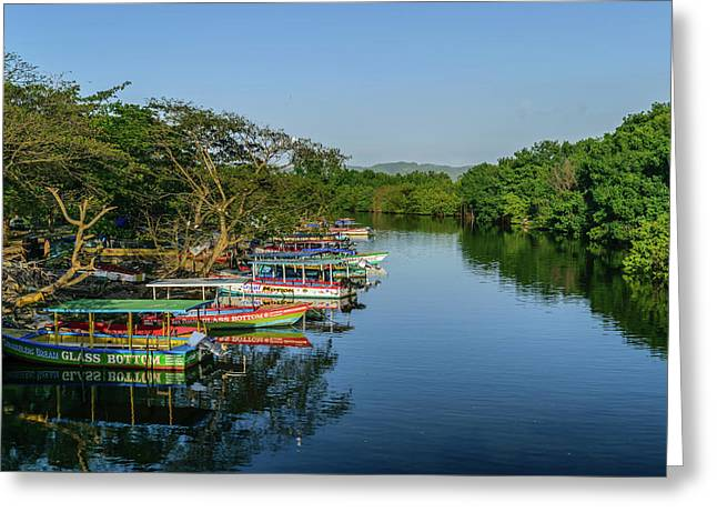 Boats By The River Greeting Card