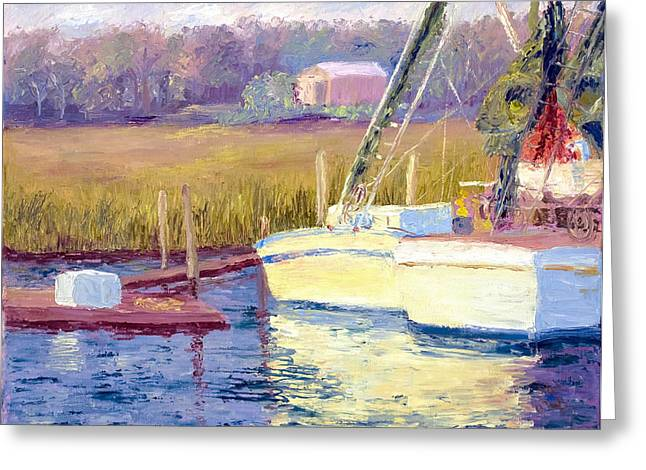 Mt. Pleasant Sc Greeting Cards - Docked Greeting Card by Patricia Huff