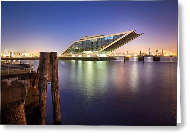 Dockland At Night Greeting Card