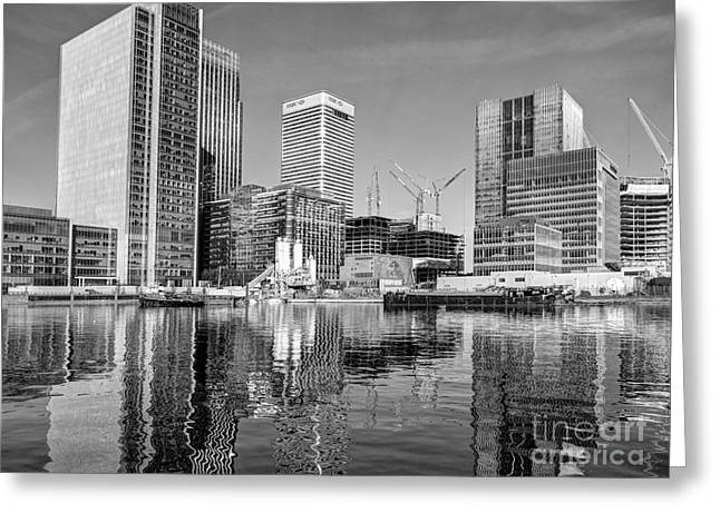 Docklands Construction Greeting Card
