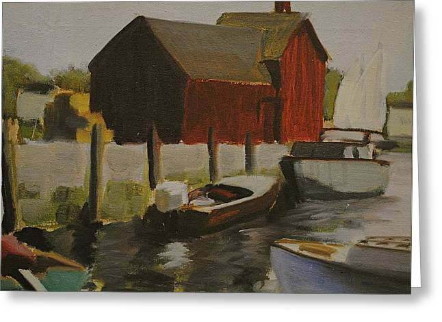 Dockside Greeting Card by Chris  Riley