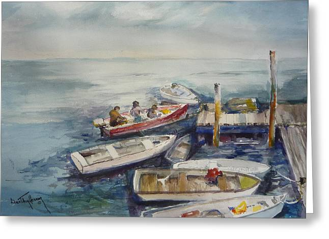 Dockside Greeting Card by Dorothy Herron
