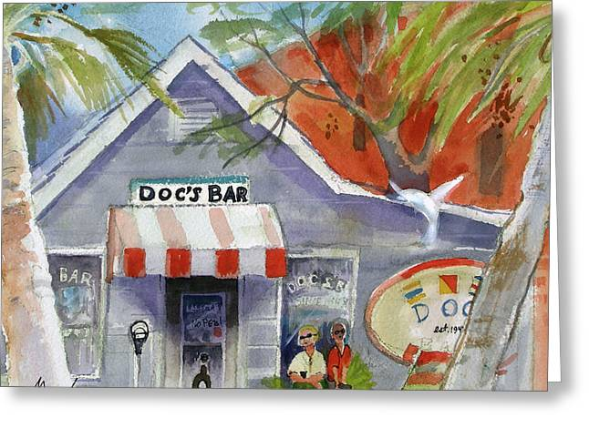 Docs Bar Tybee Island Greeting Card