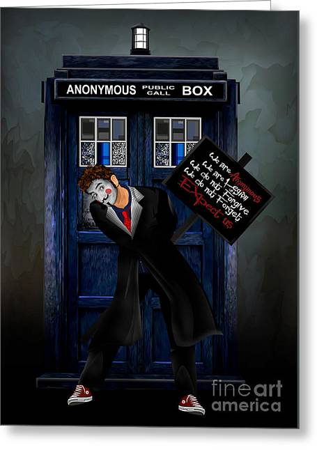 Doctor Anonymous Greeting Card by Three Second