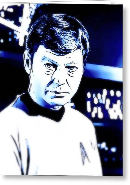 Doctor Leonard Mccoy Star Trek Greeting Card by John Springfield