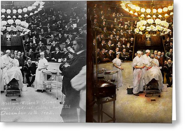 Doctor - Surgeon - Standing Room Only 1902 Side By Side Greeting Card