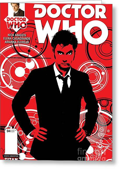 Doctor Who Comic Cover Greeting Card