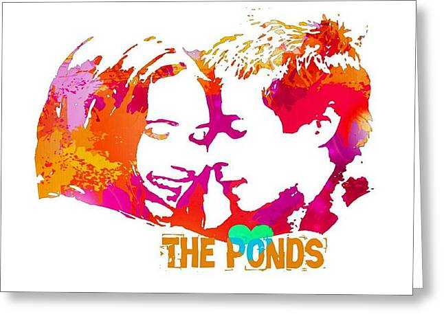 Doctor Who Inspired, The Ponds Greeting Card by Alondra Hanley