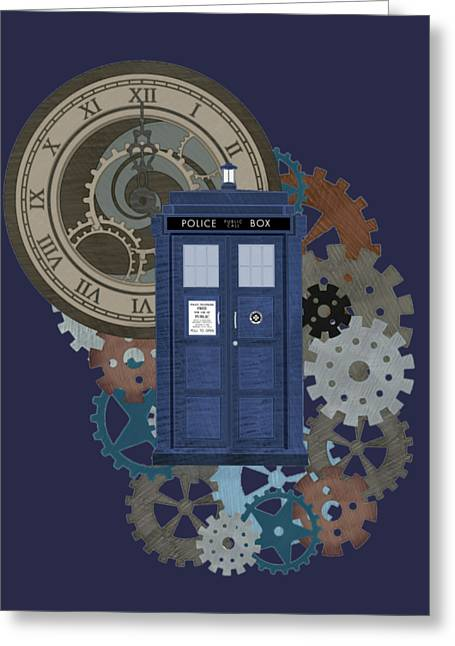 Doctor Who Inspred Time Travel 2 Greeting Card