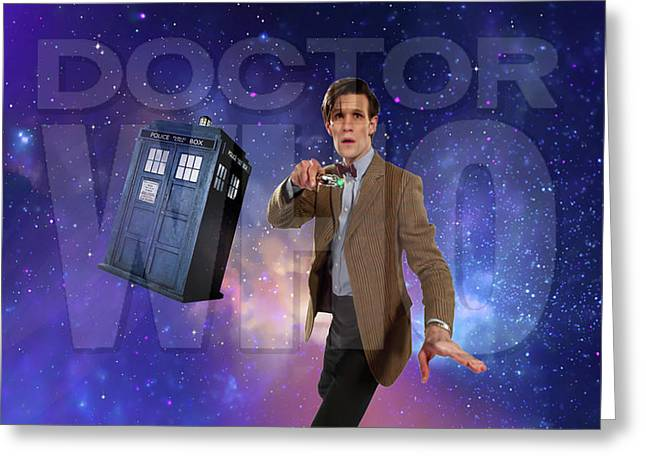 Doctor Who Greeting Card by Pat Cook