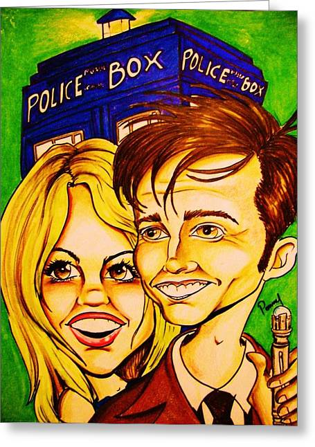 Doctor Who Greeting Card by Penny  Elliott
