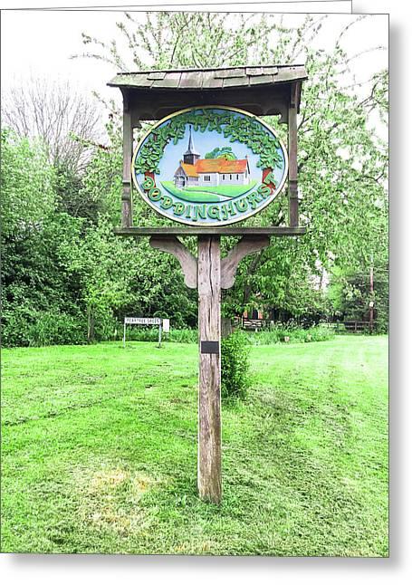Doddinghurst Village Sign Greeting Card