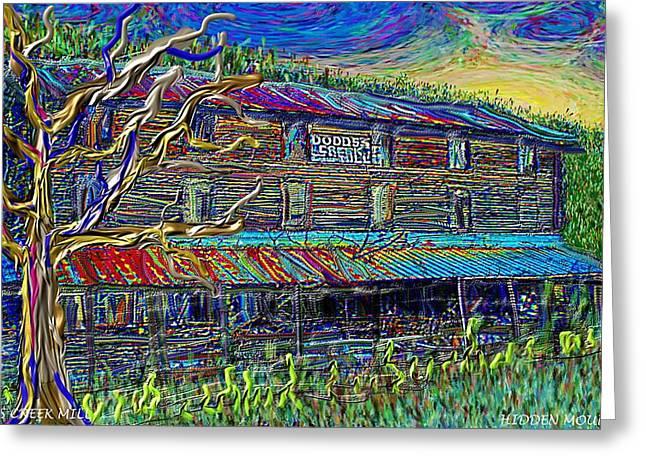 Dodds Creek Mill, ,floyd Virginia Greeting Card