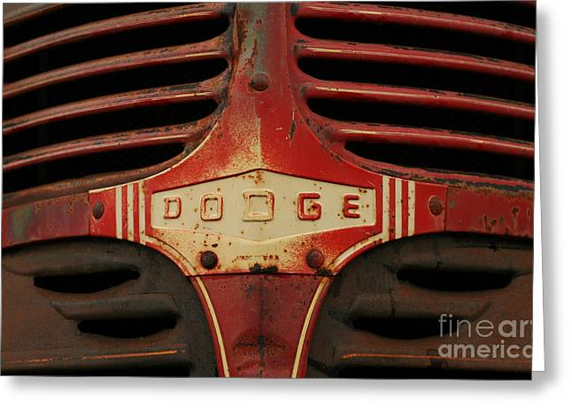 Greeting Card featuring the photograph Dodge 41 Grill by Steve Augustin