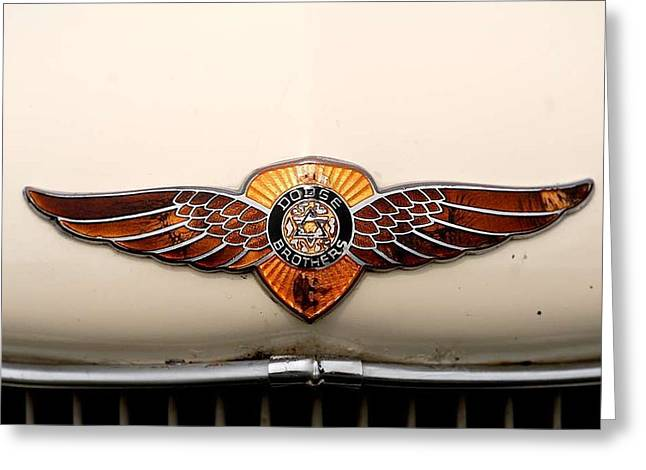 Dodge Brothers Emblem Greeting Card by David Campione