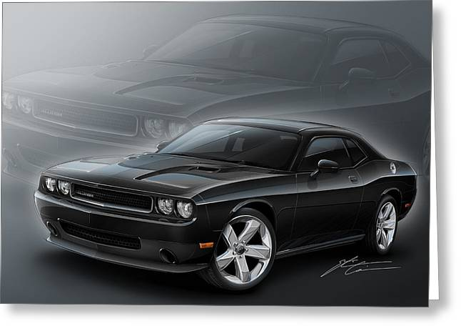 Dodge Challenger 2013 Greeting Card by Etienne Carignan