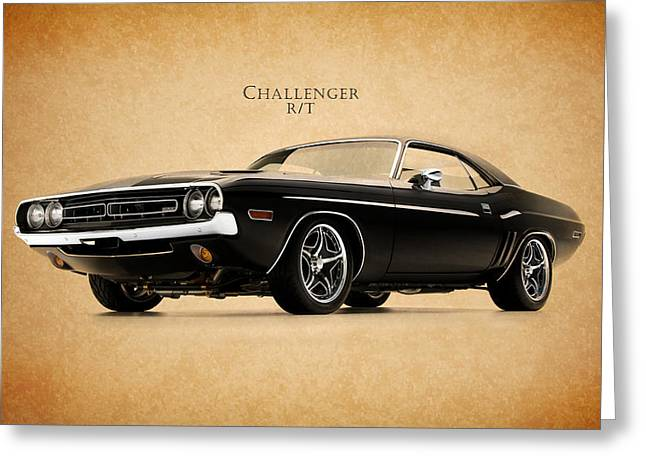 Dodge Challenger Greeting Card by Mark Rogan