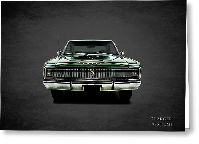 Dodge Charger 426 Hemi Greeting Card by Mark Rogan