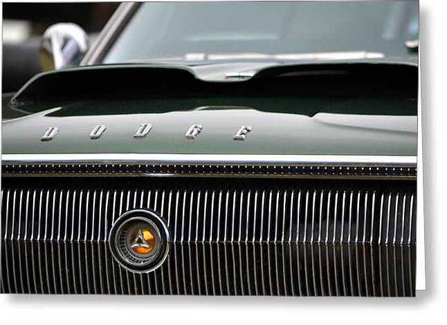 Dodge Charger Hood Greeting Card by Dean Ferreira