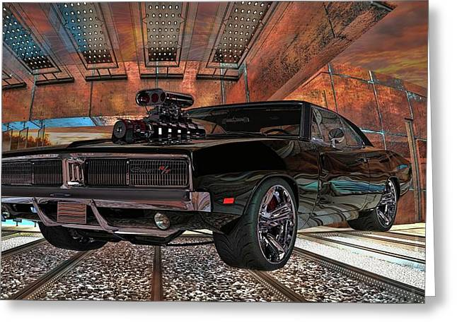 Greeting Card featuring the photograph Dodge Charger R/t 1969 Hemi by Louis Ferreira