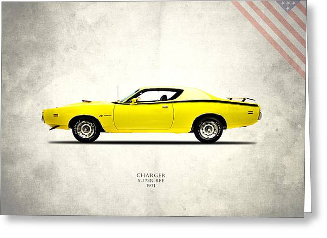 Dodge Charger Super Bee Greeting Card by Mark Rogan