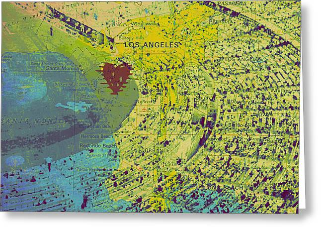 Dodger Stadium Los Angeles V1 Greeting Card by Brandi Fitzgerald