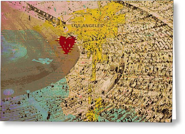 Dodger Stadium Los Angeles V2 Greeting Card by Brandi Fitzgerald
