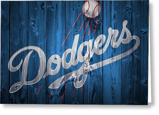 Dodgers Barn Door Greeting Card by Dan Sproul