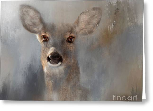 Doe Eyes Greeting Card by Kathy Russell